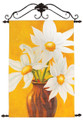 """SPRING DAISIES"" HANDPAINTED CANVAS WALL ART - FLORAL WALL DECOR"