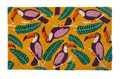 "TROPICAL TOUCANS COIR DOORMAT - 17"" X 28"" - TROPICAL DECOR - TOUCAN DOOR MAT"
