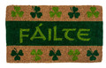 """FAILTE"" IRISH WELCOME MAT - 18"" X 30"" - CELTIC DOORMAT - SHAMROCK DOOR MAT"