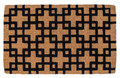 """INTERLOCKING SQUARES"" EXTRA THICK COIR DOORMAT - 18"" X 30"" - GEOMETRIC DESIGN COIR DOOR MAT"