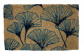 """GRACEFUL GINKGO LEAVES"" COIR DOORMAT - 18"" X 30"" - WELCOME MAT"