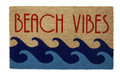 """BEACH VIBES"" COIR DOORMAT - 17"" X 28"" - BEACH HOUSE WELCOME MAT -  NAUTICAL DECOR"