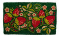 """WILD STRAWBERRIES"" COIR DOORMAT - 18"" X 30"" - WELCOME MAT"