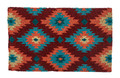 """SANTA FE"" COIR DOORMAT - 18"" X 30"" - GEOMETRIC DESIGN WELCOME MAT - SOUTHWESTERN DECOR"