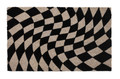 """OPTIC ILLUSION"" CONTEMPORARY COIR DOORMAT - 17"" X 28"" - OP ART"