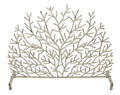 """RAINBOW REEF"" CORAL DESIGN FIRE SCREEN - ANTIQUE IVORY"