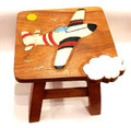 AIRPLANE WOODEN FOOTSTOOL - FOOT STOOL