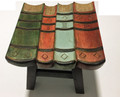 LIBRARY BOOKS WOODEN FOOTSTOOL - FOOT STOOL - OTTOMAN