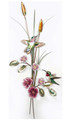 HUMMINGBIRDS WITH WILD ROSES METAL WALL SCULPTURE