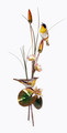 YELLOW THROATED WARBLERS METAL WALL SCULPTURE