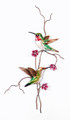 RUBY THROATED HUMMINGBIRDS METAL WALL SCULPTURE