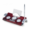 """CAPE COD"" WEATHER STATION DESK ORGANIZER WITH CLOCK - PEN - PEN STAND - BUSINESS CARD HOLDER"