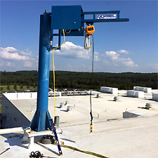 Roof Top Gorbel Jib Crane