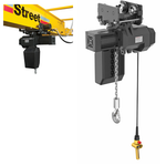 Street LX 1/2 Ton Electric Chain Hoist w/ Push Trolley (Part # LX011-M50500-015-2-2-46060-U-PT-06-4)
