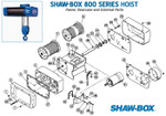 Shaw-Box 800 series Safety Hook Latch Kit 1/2 and 1 Ton-LT11330704-SBA
