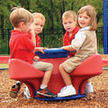 4-Seat Teeter (plain top) comes in 3 color combinations