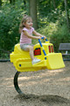 The Bulldozer Spring Rider will be a hit with your kiddos!