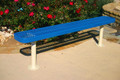 Rectangular Bench w/o Back expanded metal, shown as a surface mount