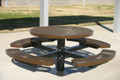 Round Pedestal Tables available in Expanded Metal or Punched Steel