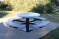 Round Solid Top Pedestal Table