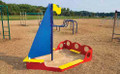 The Sailboat Sandbox is perfect for any 2-5 age play area.