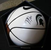 Jaren Jackson Jr. MSU Spartans Logo Autographed Signed White Nike Basketball JSA Certified