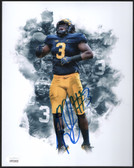 Rashan Gary Auto Michigan Wolverines Collage 8x10 Photo ~ Signed & JSA Certified