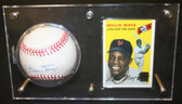 Willie Mays Signed Official NL Baseball ~ Beckett BAS Authentic HOF Auto w/ Card & Holder
