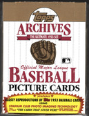 1991 Topps Archives Baseball 1953 Reproduction Box ~ 36 Sealed Packs