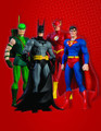 JLA IDENTITY CRISIS CLASSICS:SERIES 1-SET 4 FIGURES  - BATMAN, SUPERMAN