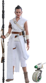 STAR WARS REY AND D-O - HOT TOYS FIGURE -THE RISE OF SKYWALKER MMS
