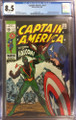 CAPTAIN AMERICA #117 (1969) 1ST APPEARANCE FALCON -WHITE PAGES CGC 8.5