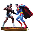 RARE !! SUPERMAN VS MUHAMMAD ALI STATUE -DC COMICS