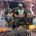 BOBA FETT (REPAINT ARMOR) AND THRONE HOT TOYS SIXTH SCALE FIGURE (MANDALORIAN TMS)