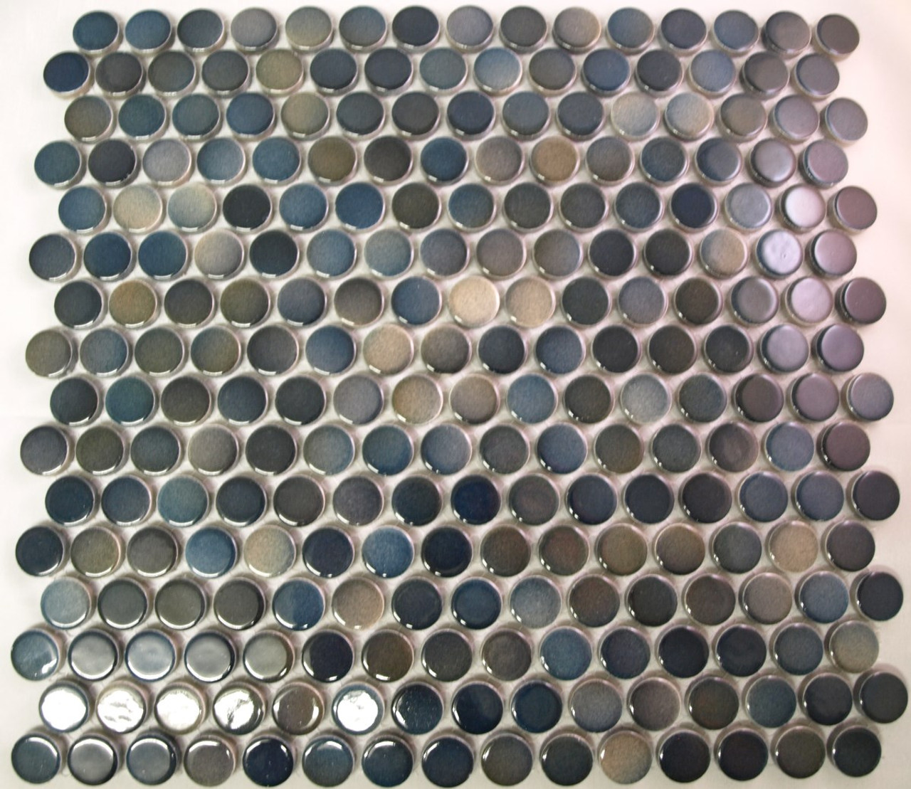Pg29 Blue Green Mix Penny Round Mosaic Tiles Exotiles