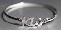 Silver Plated KW Friendship Bracelet