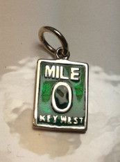 SS and Green Enamel Mile 0 Charm