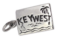 """Wish You Were Here"" Key West Postcard. Sterling Silver."