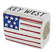 American Flag Key West Bead