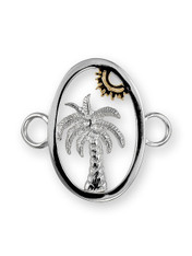 Sterling Silver Palm and Sun Clasp with 14K Gold Accent. - SPECIAL ORDER