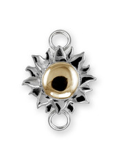Sterling Silver Sun Clasp with 14K Gold Accent. - SPECIAL ORDER