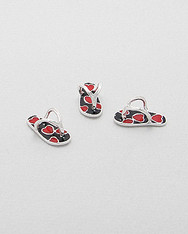 Flip Flop Bead with Hearts Bead