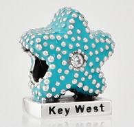 Key West Starfish Bead with Cubic Zirconia and Enamel