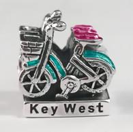Key West Bike Enamel Bead
