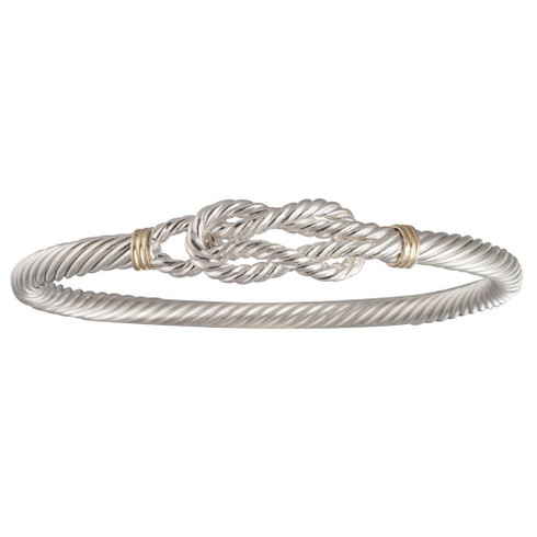 Sterling silver and 14kt gold Cable Sailors Knot Bracelet