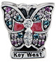 Key West Butterfly Bead with CZ crystals and enamel. 925 Sterling Silver