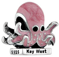 Key West Octopus with CZ and Enamel