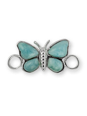 SS BUTTERFLY LARIMAR CLASP