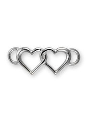 SS DOUBLE HEART CLASP