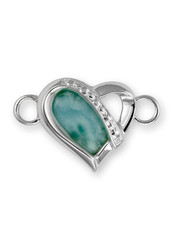 SS HEART LARIMAR CLASP